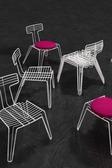 Chair R Wire Chair White Hr