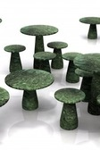 R Green Marble Table Low